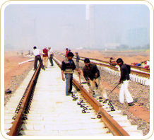 Railway Track Construction India